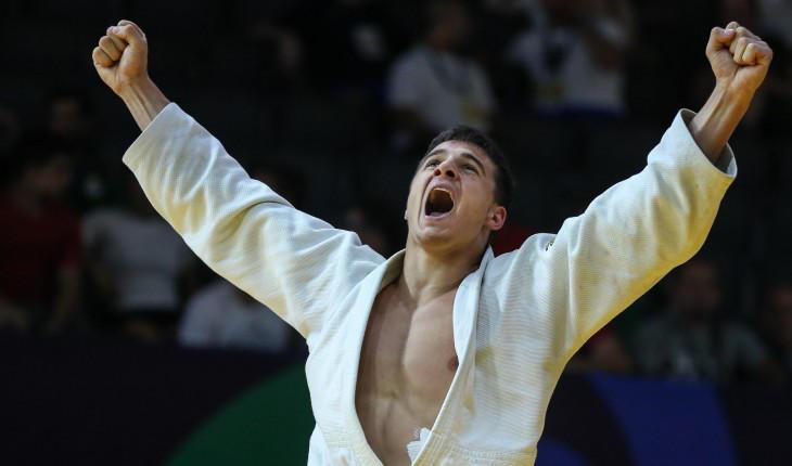 Georgian judoists Lasha Bekauri and Vladimir Akhalkatsi became world champions